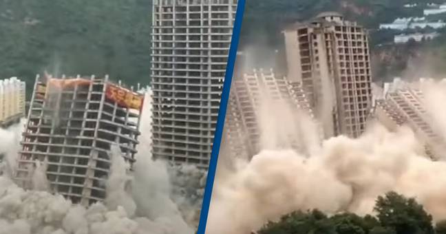 Astonishing Footage Shows 15 Skyscrapers Blown Up At The Same Time In Mass Demolition