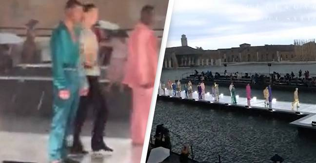 Dolce & Gabbana Open Air Fashion Show Hammered By Freak Hail Storm, Causing Models And Public To Flee