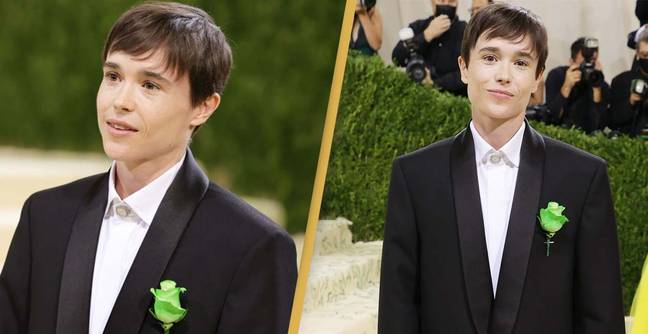 Elliot Page Wore A Green Flower On His Met Gala Suit Last Night, Here's Why