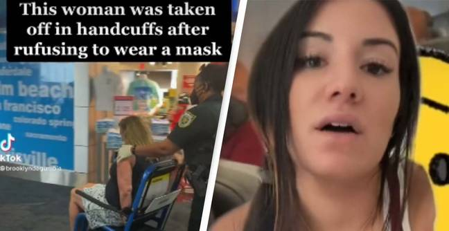 Woman Handcuffed For Refusing To Wear Mask On Plane In Widely Shared Video