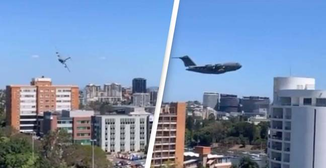 Astonishing Video Of Plane Weaving Through Skyscrapers Divides Opinion