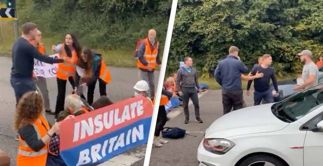 Violence On The M25 As Climate Protestors Cause Motorway Chaos