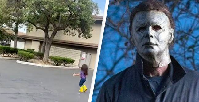 Four-Year-Old Screams 'Michael Myers, I Love You' Before Jumping Into His Arms