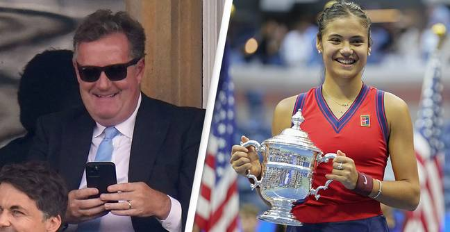 Piers Morgan Slammed For Trying To Take Credit For Emma Raducanu's US Open Victory