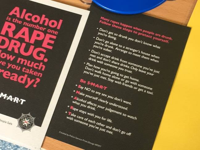 Police Apologise After Linking Rape To Alcohol Consumption In Flyer (Sara Haller)