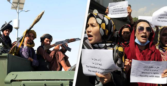 Taliban Fire Shots and Tear Gas At Women's Equal Rights Protest In Kabul