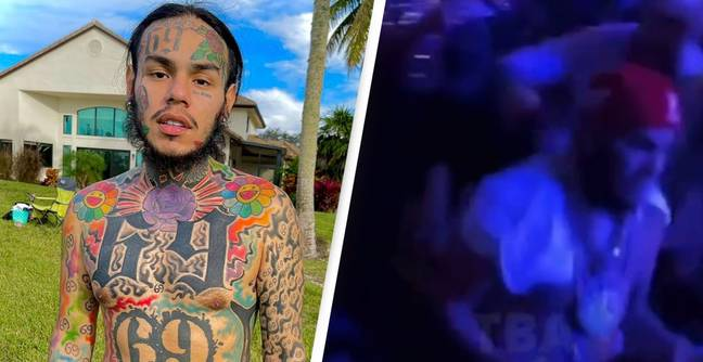 Cover Tekashi 6ix9ine Filmed Getting A Drink Launched Over Him At UFC 266