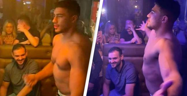 Tommy Fury Dances Shirtless In Front Of Rabid Crowd Of Students In Bizarre Viral Video