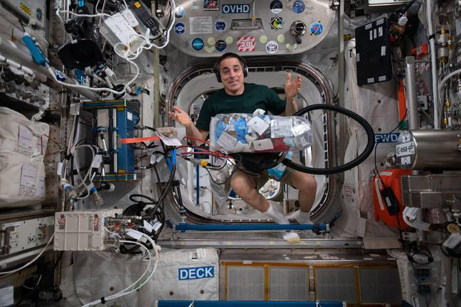 Chris Cassidy - We all have to do our housekeeping chores, even when we command the International Space Station crew. This past weekend, NASA astronaut and Expedition 63 Commander Chris Cassidy was no exception as he collected trash for disposal during weekend housekeeping activities. NASA/UPI
