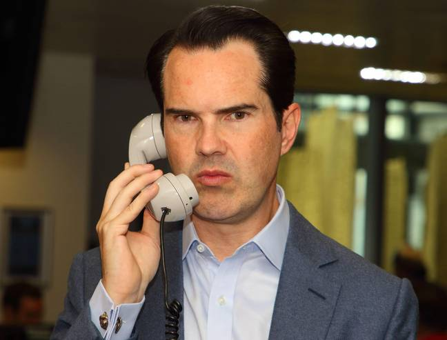 Jimmy Carr Removes Heckler - Comedian Jimmy Carr at the BGC Charity Day 2019 at Canary Wharf. (Photo by Keith Mayhew / SOPA Images/Sipa USA)