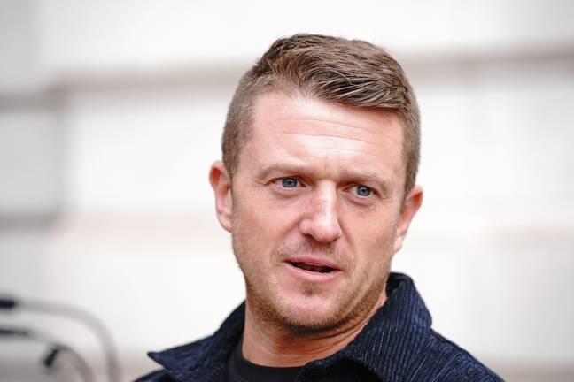 Tommy Robinson Stalking - Tommy Robinson arrives at Westminster Magistrates' Court in London for a hearing regarding the stalking of a journalist. Picture date: Wednesday October 13, 2021. (Alamy)
