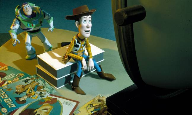 Toy Story Remake of Squid Game - TOY STORY 2 (ANI - 1999) ANIMATED CREDIT DISNEY BUZZ LIGHTYEAR (CHARACTER), WOODY (CHARACTER) TTWO 020 (Alamy)