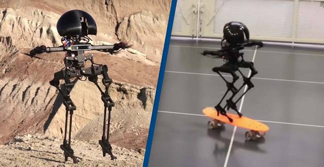 Video Shows Off How New Robot Can Skateboard, Slackline And Fly