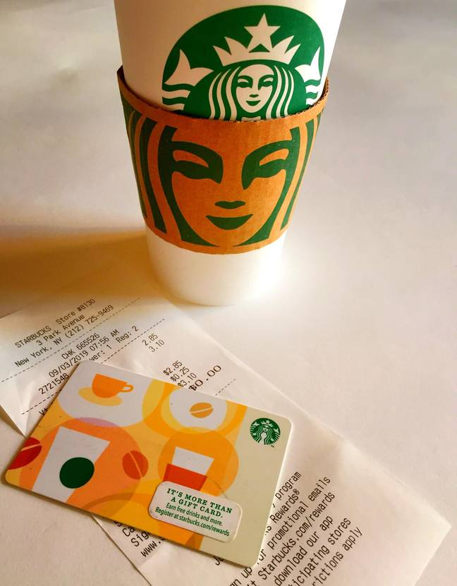 Spies use starbucks gift cards (Alamy)