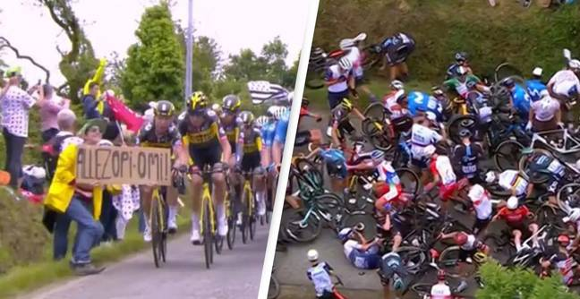 Spectator Who Caused Horror Tour De France Crash To Go On Trial