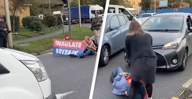 Furious Drivers Drag Insulate Britain Protesters From Road