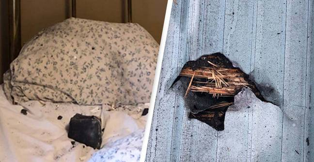 Woman Wakes Up To A Space Rock On Her Pillow And Hole In Her Roof