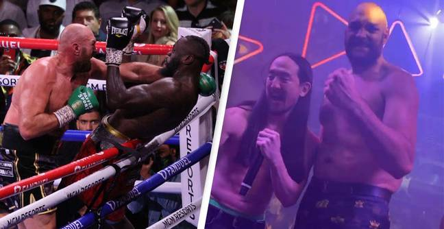 Tyson Fury Seen Raving After Heroic Deontay Wilder Defeat In Iconic Video