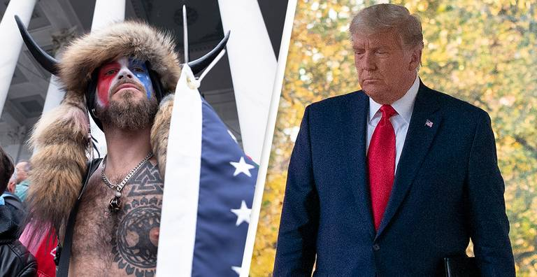 Man In Horned Hat Who Stormed Capitol Wants Trump To Pardon Him