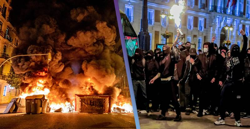 Protesters Clash With Spanish Police For Sixth Night After Rapper Pablo Hasel Jailed Over Tweets About Royals