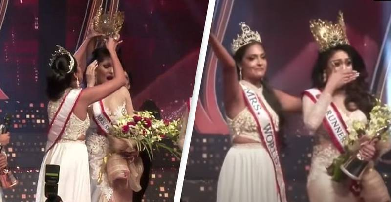 Mrs World Yanks Crown Off Mrs Sri Lanka's Head In Furious Exchange