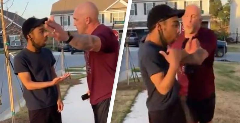 Soldier Charged After Video Shows Him Shoving Black Man For 'Being In Wrong Neighbourhood'