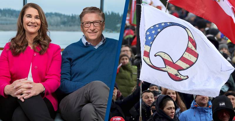 QAnon Thinks Bill Gates Divorced Melinda Because She Was Replaced By Male Clone