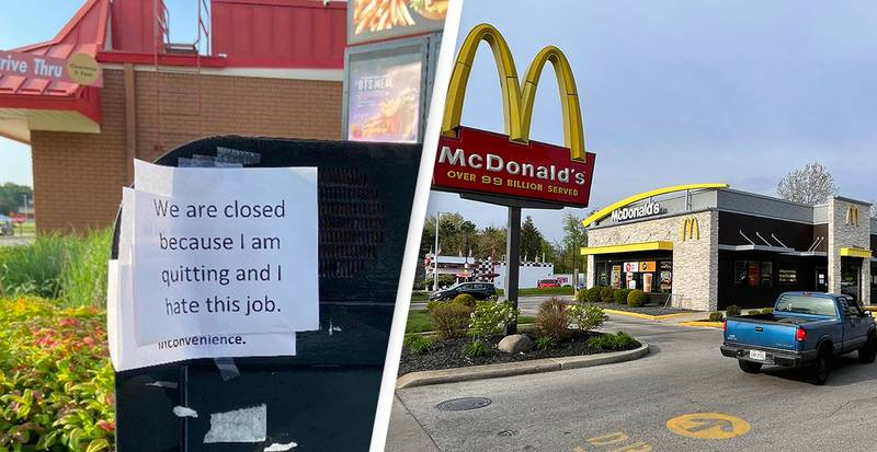 McDonald's Employee Quits, Leaving 'I Hate This Job' Drive-Thru Sign