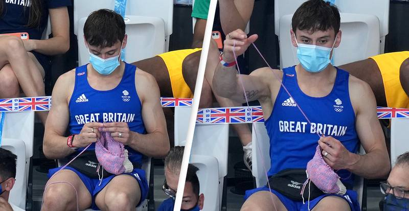Tom Daley Reveals What He Was Knitting That Caused Poolside Controversy