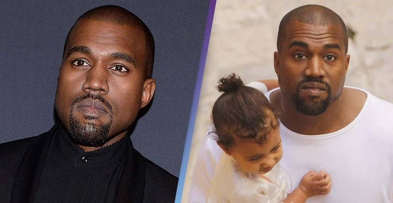 Kanye West's Bizarre New Hair Cut Has Everyone Thinking He Let His Daughter Do It