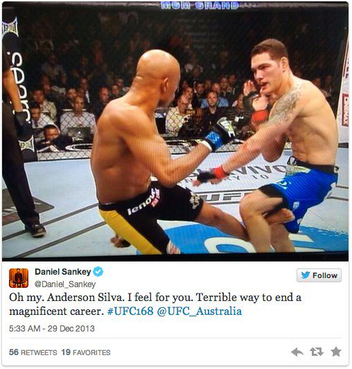 Twitters Unsympathetic Reaction To Anderson Silva Breaking His Leg anderson 2