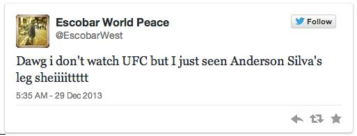 Twitters Unsympathetic Reaction To Anderson Silva Breaking His Leg anderson 3