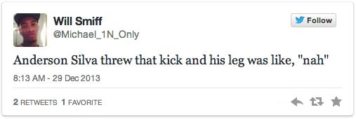 Twitters Unsympathetic Reaction To Anderson Silva Breaking His Leg anderson 8