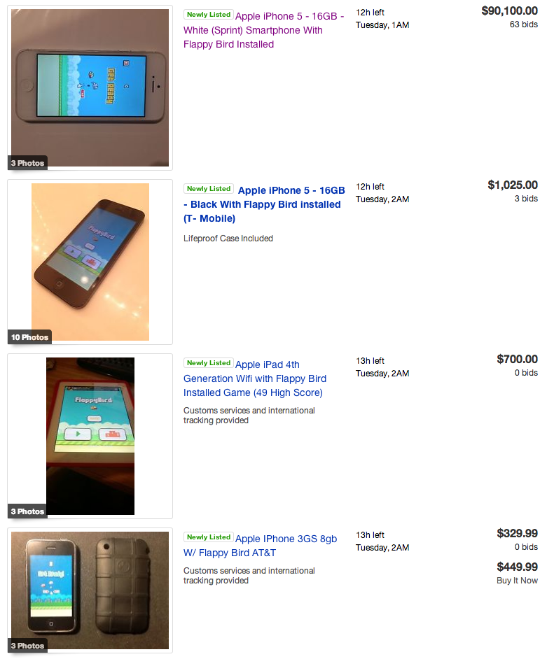 Devices With Flappy Bird Installed Are Making People Rich After Game Is Taken Down 1