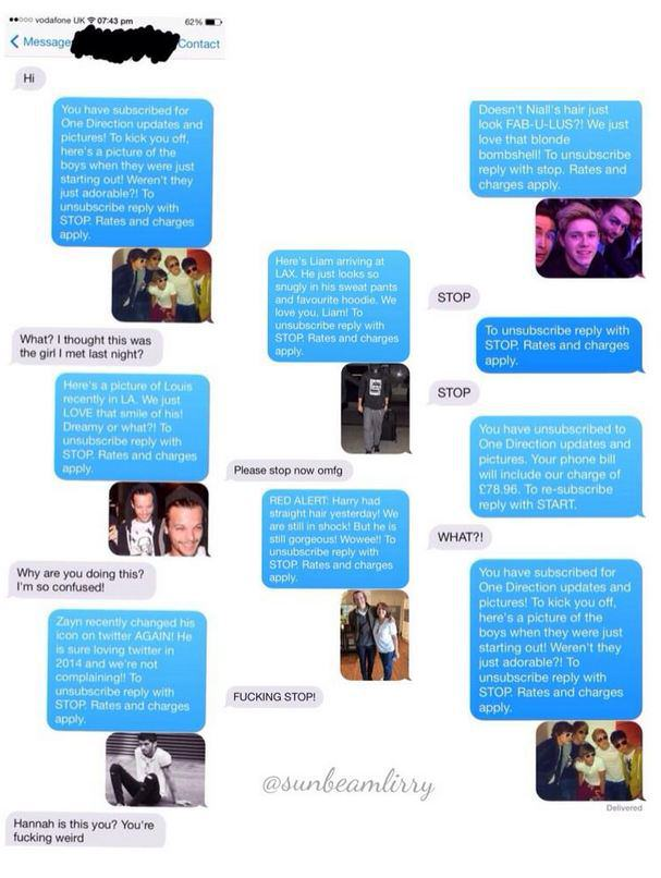 Lad Gets Absolutely Trolled By Girl Who Gave Him Her Number one direction tweet