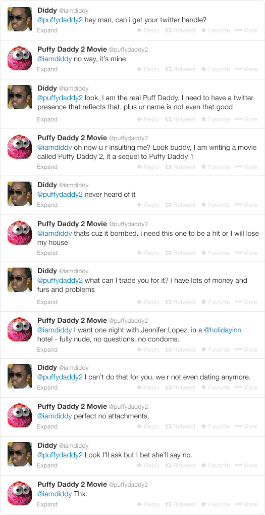 Diddy Begs Twitter Users For Their Handles After Recent Name Change fa89d35c80e211c7c74c003f5cfcc635 width 640x