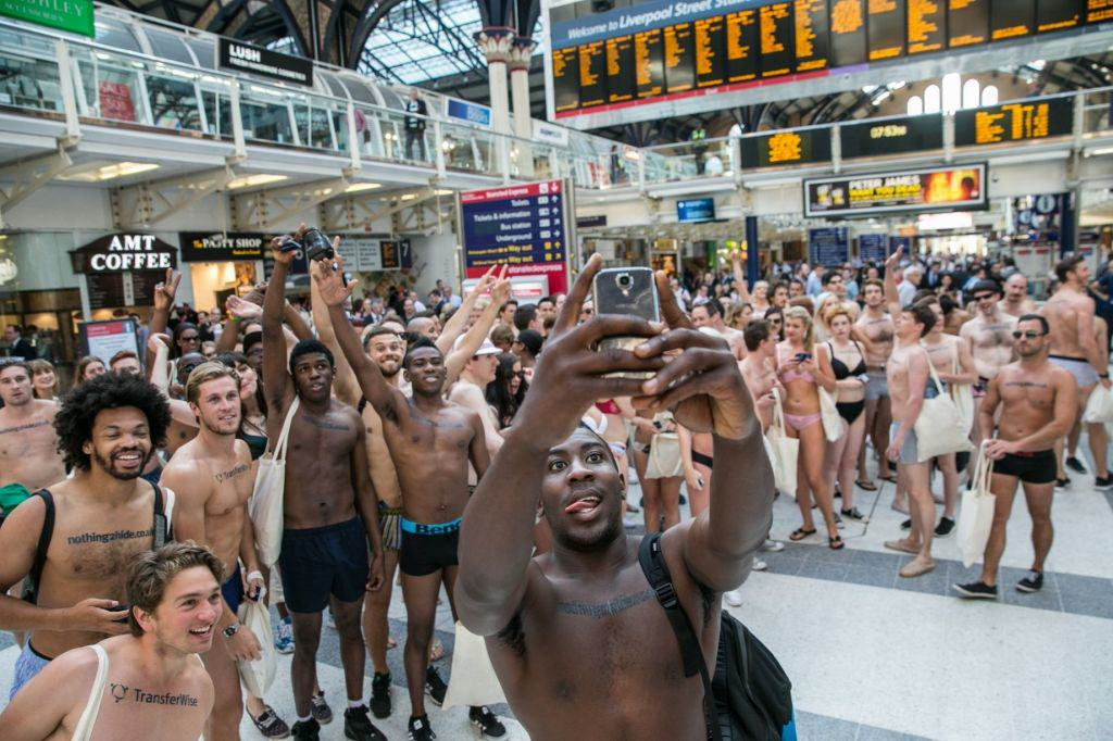 Semi Naked Protesters Take To The Streets Of London Flashing Flash Mob 5