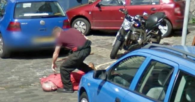 Police Investigate Axe Murder Captured On Google Street View ad 136598171
