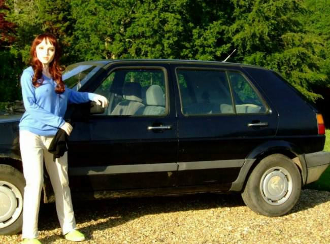 eBay Seller Uses Sex Doll To Advertise 1990 VW Golf ad 136601385