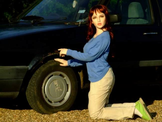 eBay Seller Uses Sex Doll To Advertise 1990 VW Golf ad 136601397