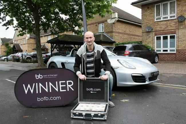 Man On Benefits Wins £53K Porche In Spot The Ball Game ad 136883577