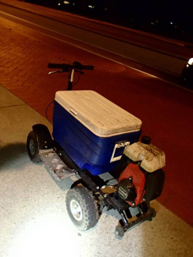 Man Arrested For Drink Driving On Motorised Cooler ad 137289963
