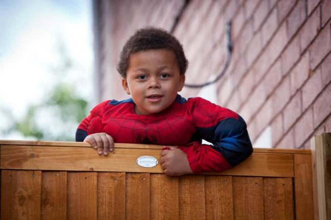 Four Year Old Spiderboy Keeps Escaping From Home ad 137744552