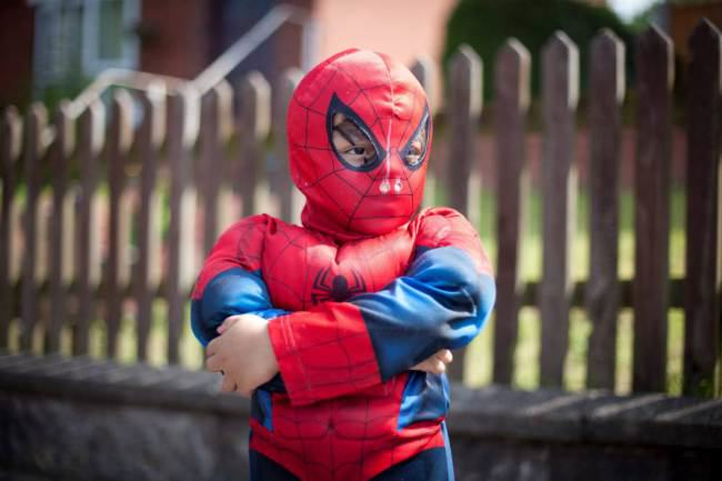 Four Year Old Spiderboy Keeps Escaping From Home ad 137744615