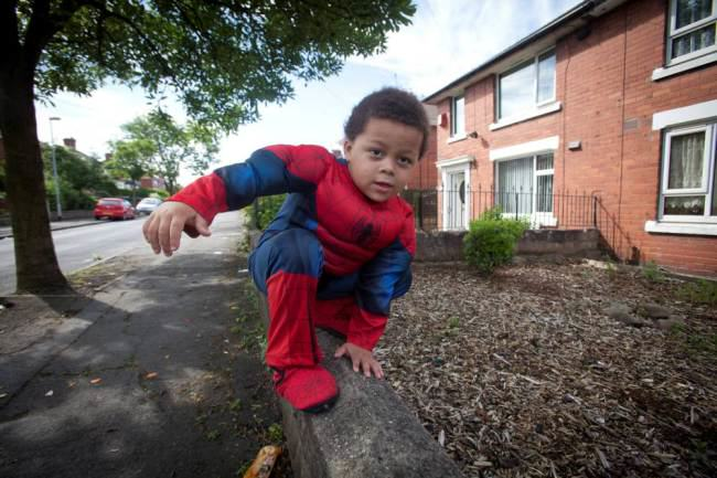 Four Year Old Spiderboy Keeps Escaping From Home ad 137744646