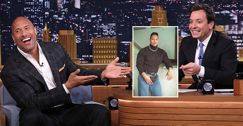 The Rock Explains THAT 90s Photo On The Tonight Show 125