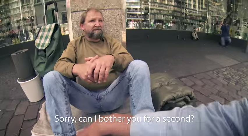 Three German Students Surprise A Homeless Guy %name