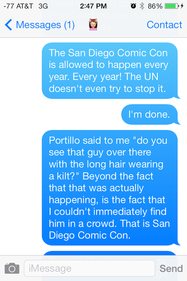Guy Gets High On Mushrooms At Comic Con, His Texts Are Incredible comic con shrooms 12
