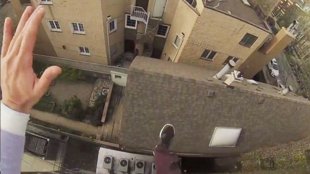 This INSANE GoPro Roof Jump Will Make Your Palms Sweaty ht gopro roof jump video 01 jc 140731 16x9 992