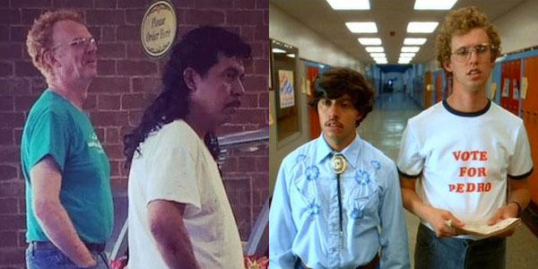 Lad Spots Real Life Napoleon Dynamite And Pedro In Subway napolean